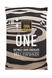 ZEBRA 55% OAT MILK + DARK CHOCOLATE, 1.5 oz