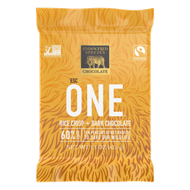 LION 60% DARK CHOCOLATE + RICE CRISPS, 1.5 oz